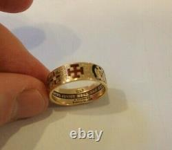 107 Year Old Vintage 14k Gold 32nd Degree Scottish Rite Masonic Mens Ring