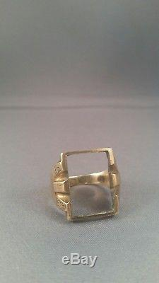 10k gold men's vintage ring setting no stone scrap or use
