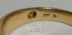 14K SOLID GOLD Mens Top Quality Vintage. 70ct TW 7 Diamond Ring Sz 11 FABULOUS