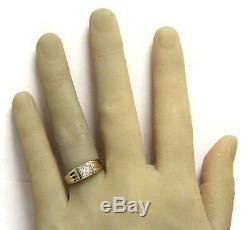 14K yellow gold. 41ct VS1 J diamond mens solitaire ring 3.2g vintage size 9.5