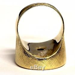 14k yellow gold 1880 5 five dollar US liberty coin mens ring 30.0g gents vintage