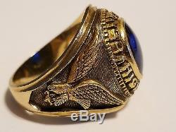 1969 Central High School Gold Mens Class Ring Vintage Blue Sapphire No Reserve