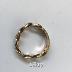 9ct Gold Vintage I. D Style Men's Solid Gold Ring Weight 4.23g Size M Width 6mm