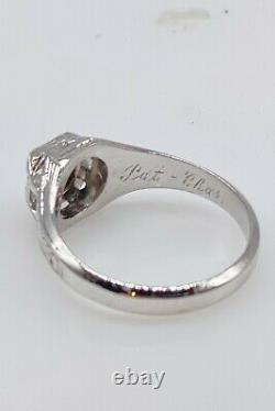 Antique 1920s $5000.50ct Natural Alexandrite 18k White Gold Mens Ring Band