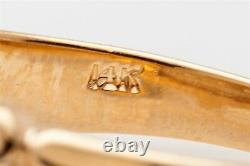 Antique 1930s ART DECO 3 Diamond. 25ct 14k Yellow Gold Mens Ring Band