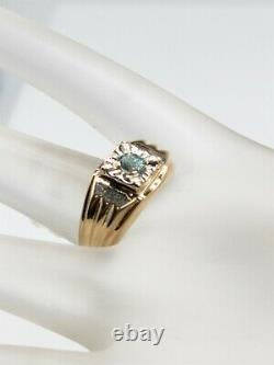 Antique 1950s $3000.50ct AAA+++ Natural Alexandrite 14k Yellow Gold Mens Ring