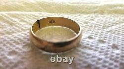 Antique Ostby And Barton Titanic Rose Gold Ring Mens Band 1800's