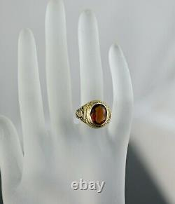Antique Tiffany & Co 14K Gold Madeira Citrine Men's /Unisex Ring Rare Collection