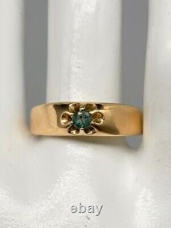 Antique Victorian 1870s $3400 Natural Alexandrite 14k Yellow Gold 6mm Mens Ring