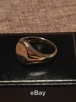 HEAVY, VINTAGE 9ct gold HM signet ring SIZE R wt 7.11g gents mens, new unworn MINT