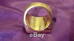 Heavy Mens Vintage 14k Yellow Gold 2.28 Ct Diamond Ring 53 Grams Solid Estate