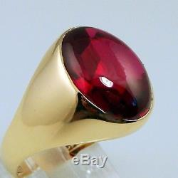 MENS WOMENS RING IN BOX ANTIQUE VINTAGE COLLECTIBLE ESTATE RUBY 14K GOLD 8.0gram
