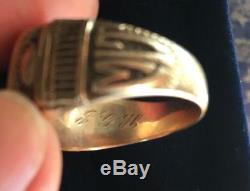 MIT Class Ring Vintage Balfour 10 K Yellow Gold Mens Heavy