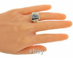 Mens Estate Vintage 10k Yellow Gold Carved Cameo Ring