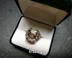 Mens Women's 10k Yellow Gold Class Ring 1924 Vintage Ring Size 9 Signet Ring