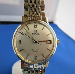 Omega Vintage SEAMASTER DEVILLE AUTO CAL565 60'S SS/GOLD BEZEL RING MENS Watch