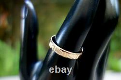 Rose Gold 14K 585 Band Ring Solid Size 11.5 Vintage Men Women Unisex Russian
