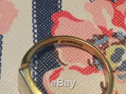 Solid 18ct Heavy Yellow gold signet ring 7.7 g Vintage gents mens Size V HM 1866