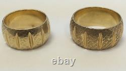 VINTAGE Heavy 14K SOLID GOLD WIDE WEDDING BAND SET Mens Womens 19.9 Grams