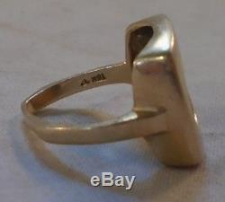 VINTAGE MENS RINK 14K 585 MADE With 1945 MEXICAN DOS PESO GOLD COIN size 5