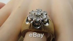 Vintage Mens Solid 14k Gold 1.5 Ctw Diamond Band Ring Sz 11 Not Scrap 14.9gr