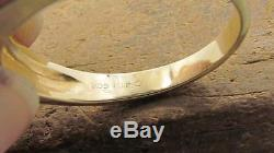 Vintage Mens Solid 14k Yellow Gold 8 Diamonds Band Ring Sz 11 Not Scrap 6.4gr