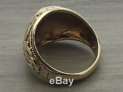 VINTAGE Men's 10KT YELLOW Gold US NAVY Ring Size 8.5 USN