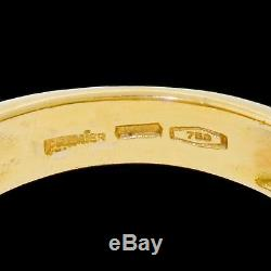 VTG 18K Gold Rainbow Pinky Ring Sapphire Baguettes Pink Blue Men's Size 7.5 SGND