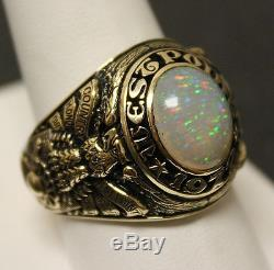 VTG 1972 USMA West Point 14K Yellow Gold Mens Ring! WOW