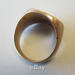 Vintage 10K Gold Mens Ring Masonic G Square & Compass 14g