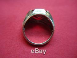Vintage 10k Yellow Gold Men's Ruby Ring Well Made