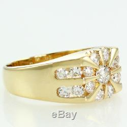 Vintage 14K Yellow Gold MENS 2 CT TW Natural DIAMOND RING Helzberg 8.9g Sz 11.75