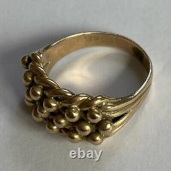 Vintage 9ct Gold Keeper Ring Gents Mens 1977 Size U 9.55g