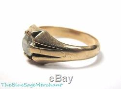 Vintage MENS Womens 14k GOLD Solitaire Semi Mount RING sz 12