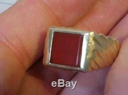 Vintage Mans 14k Gold Ring With Stone
