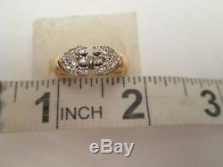 Vintage Men's Solid 14K Yellow Gold DIAMOND PINKY Ring Size 5.75 $1,950