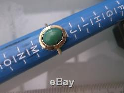 Vintage Men's/Women's 9ct Gold Turquoise Stone Ring Size K 1/2 Weight 1.9g