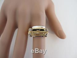 Vintage Mens Custom Made 1957 Chevy Diamond 14k Solid Gold Vehicle Ring 15.9 gr