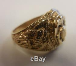 Vintage Mens United States Marine Corps 10kt Gold Ring 10.7Grams Free Shipping