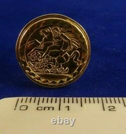 Vintage Mens Womens 9ct Gold ST GEORGE DRAGON RING Hm 5gr Sz S1/2-T Gift 26ee