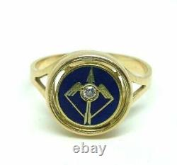 Vintage Ring Years' 60 Gold 18 Carats Men's with Natural Diamond Bow And Arrow
