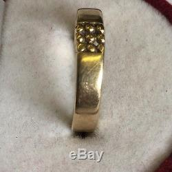 Vintage Solid 9ct Gold Men's Pinky Signet Style Ring Size M1/2