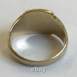 Vintage Solid 9ct Yellow Gold Men's Un-Inscribed Signet Ring Size O