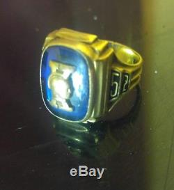 Vintage antique 1957 10k solid Gold School Class Ring mens