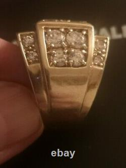 Woo, specially made, 9ct gold mens vintage ring, definitely a statement piece